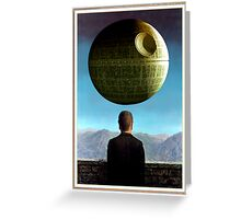 Death Star Magritte Greeting Card