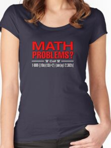 Math Problem? help is here Women's Fitted Scoop T-Shirt