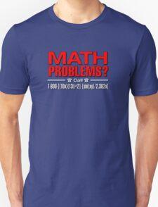 Math Problem? help is here Unisex T-Shirt