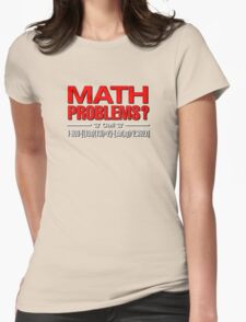 Math Problem? help is here Womens Fitted T-Shirt
