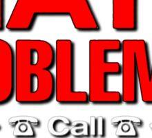 Math Problem? help is here Sticker