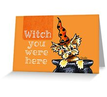 Yorkie Witch You Were Here Greeting Card