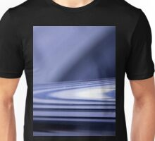 Abstract background in blue with lines. Unisex T-Shirt
