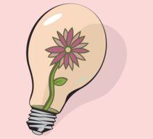 Flower in Lightbulb One Piece - Long Sleeve