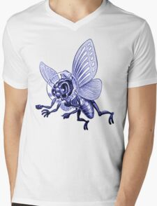 Bug Eyed Monster from Outer Space Mens V-Neck T-Shirt