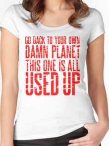 Message TO Space Women's Fitted Scoop T-Shirt