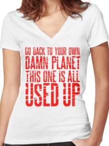 Message TO Space Women's Fitted V-Neck T-Shirt
