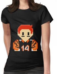 8Bit Andy Dalton NFL Womens Fitted T-Shirt