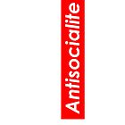 Antisocialite Red Box Logo  by antisocialite