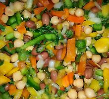 Mango and Bean Salad by MysteryKitty