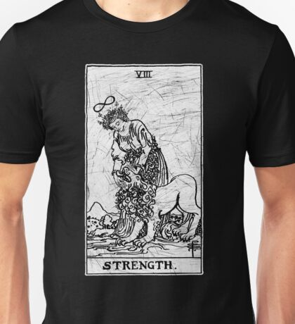 Strength Tarot Card - Major Arcana - fortune telling - occult Unisex T-Shirt