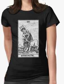 Strength Tarot Card - Major Arcana - fortune telling - occult Womens Fitted T-Shirt