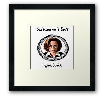 The X-Files - You Don't Framed Print
