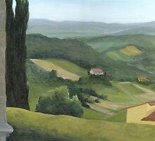 Montecastello view #2 by Barbara Weir