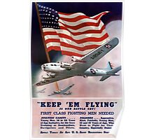 Keep 'Em Flying -- Army Air Corps Recruiting Poster