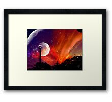 ZhuRong, Planet of Fire, Andromeda Galaxy Framed Print