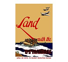 Land With The US Marines Photographic Print