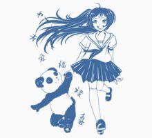 Lucky Panda Girl! One Piece - Short Sleeve