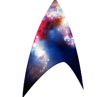 Galaxy Starfleet Insignia Iphone Case by antisocialite