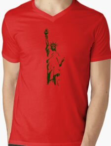 liberty usa new york america Mens V-Neck T-Shirt