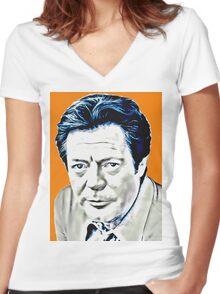 Marcello Mastroianni Women's Fitted V-Neck T-Shirt