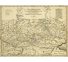 Map of the Ukraine by Guillaume Sanson (1674) Photographic Print