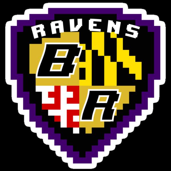 8Bit Ravens Coat of Arms by CrissChords