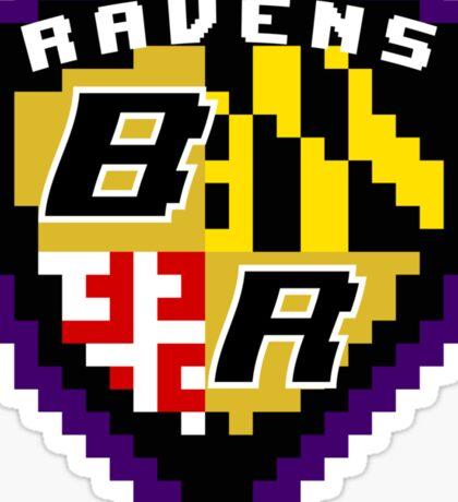 8Bit Ravens Coat of Arms Sticker