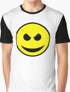 Evil Smiley Graphic T-Shirt