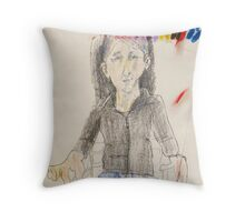 Fara explaining sacred principles Throw Pillow