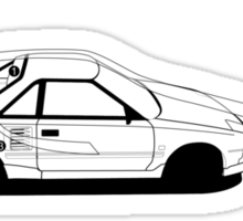 Toyota AW11 MR2 - AERO - TEE (W/ White Arrows) Sticker