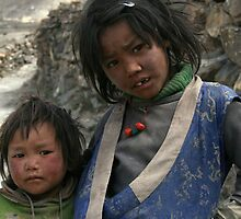 Sister & Brother, Dolpo by LeighBlake