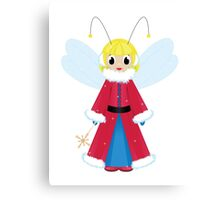 christmas fairy in red  on white background Canvas Print