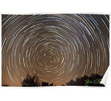 One Hour Star Trail Poster