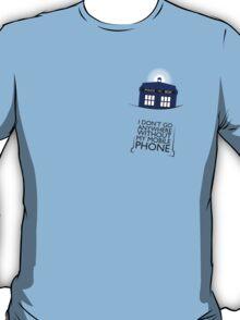 Mobile Phone - TARDIS T-Shirt