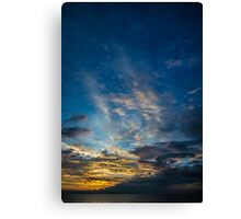 Sunset Over Lake Michigan Canvas Print