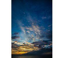 Sunset Over Lake Michigan Photographic Print
