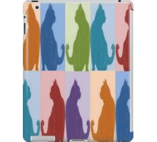 Silhouette Cat Collage Pattern New Media Art iPad Case/Skin