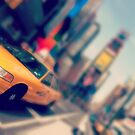 new york city times square taxi by Noel Moore Up The Banner Photography