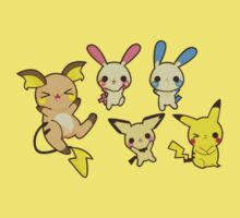 Cute Pika Family by thevillain