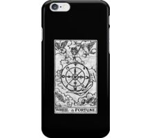 Wheel of Fortune Tarot Card - Major Arcana - fortune telling - occult iPhone Case/Skin