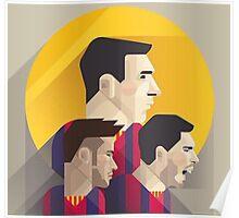MSN - Messi Suarez Neymar Poster