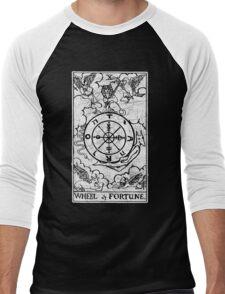 Wheel of Fortune Tarot Card - Major Arcana - fortune telling - occult Men's Baseball ¾ T-Shirt