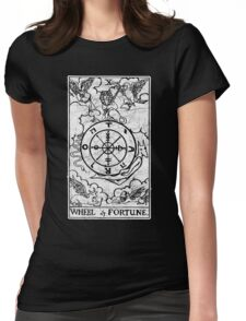 Wheel of Fortune Tarot Card - Major Arcana - fortune telling - occult Womens Fitted T-Shirt