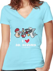 I love Hong Kong Sevens (Rugby, Party and Beer) Women's Fitted V-Neck T-Shirt