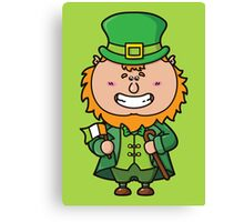 kawaii Leprechaun Canvas Print