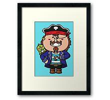 kawaii Pirate Framed Print
