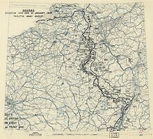 January 20 1945 World War II HQ Twelfth Army Group situation map by allhistory