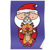kawaii Santa Poster