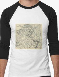December 28 1944 World War II HQ Twelfth Army Group situation map Men's Baseball ¾ T-Shirt